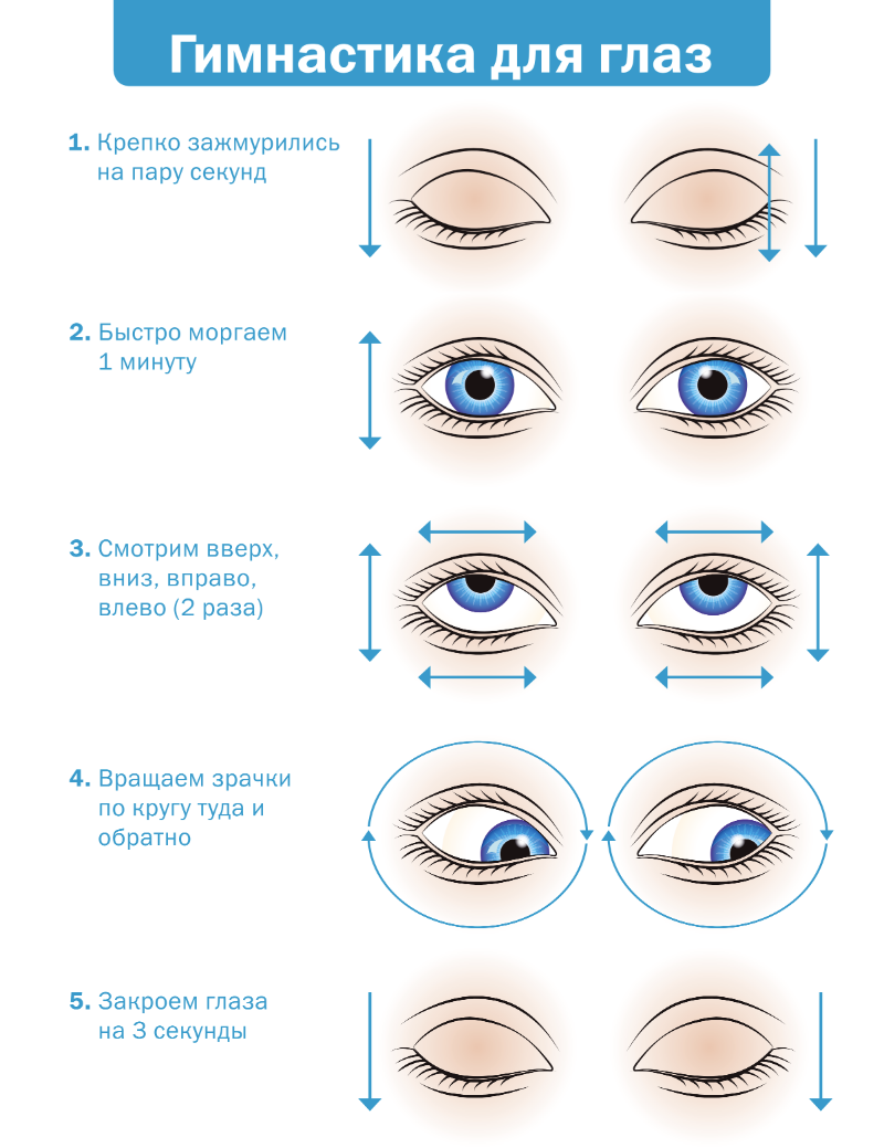 лучшие упражнения для глаз в картинках каждый